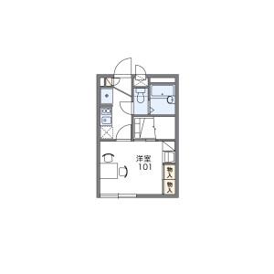 1K Apartment in Nagaikecho - Osaka-shi Abeno-ku Floorplan