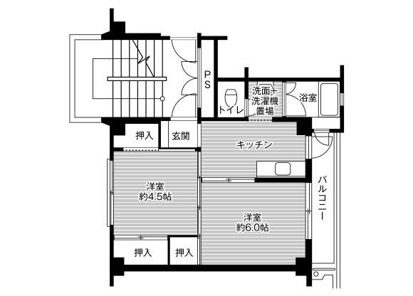 2K Apartment to Rent in Iruma-gun Moroyama-machi Floorplan