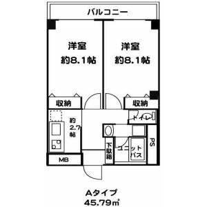板橋區東新町-2K公寓大廈 房間格局