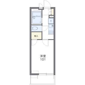 1K Mansion in Kitamikunigaokacho - Sakai-shi Sakai-ku Floorplan