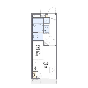 1K Apartment in Tokiwadai - Itabashi-ku Floorplan