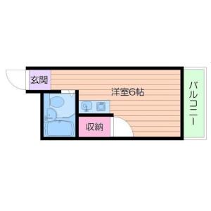 1R Mansion in Imagawa - Osaka-shi Higashisumiyoshi-ku Floorplan