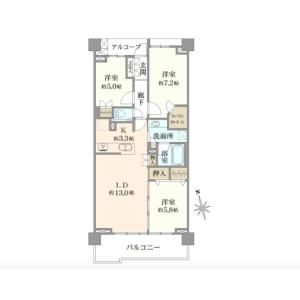 3LDK {building type} in Kamikitazawa - Setagaya-ku Floorplan