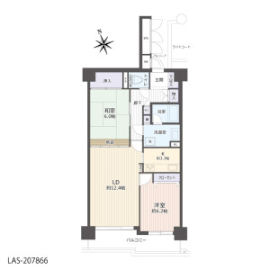 2LDK {building type} in Yatsu - Narashino-shi Floorplan