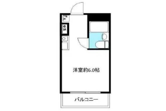 1R Apartment to Buy in Hachioji-shi Floorplan