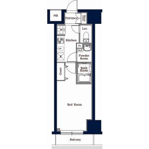 1K Mansion in Higashiueno - Taito-ku Floorplan