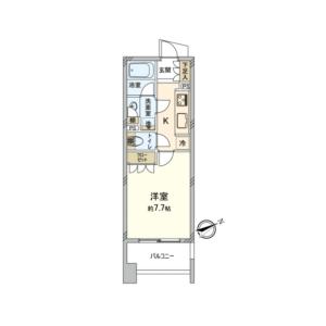 1R {building type} in Kitaueno - Taito-ku Floorplan