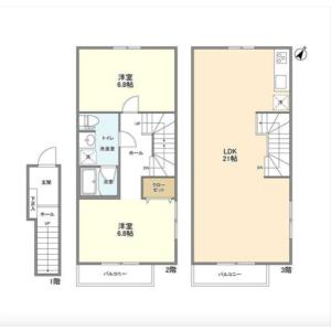 2LDK Apartment in Ebisunishi - Shibuya-ku Floorplan