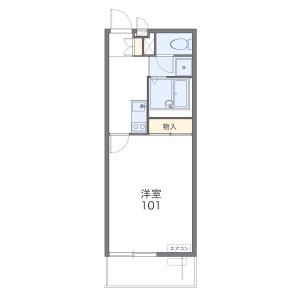 1K Mansion in Ureshino - Fujimino-shi Floorplan