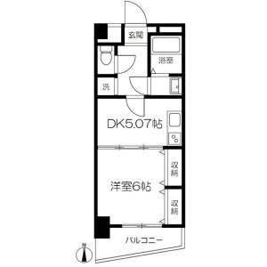 1DK Mansion in Omorinishi - Ota-ku Floorplan
