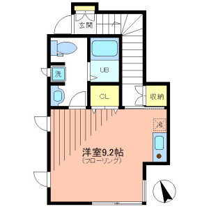 1R Apartment in Kitasenzoku - Ota-ku Floorplan