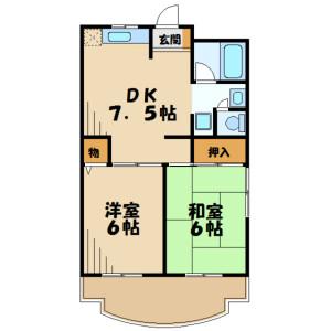 2DK Mansion in Keyakidaira - Kawasaki-shi Miyamae-ku Floorplan