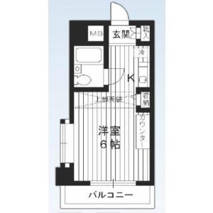 1R {building type} in Nakaochiai - Shinjuku-ku Floorplan