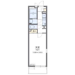 1K Mansion in Kishikicho - Saitama-shi Omiya-ku Floorplan