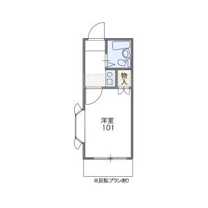 1K Apartment in Hiyoshihoncho - Yokohama-shi Kohoku-ku Floorplan
