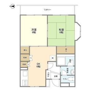 2DK Mansion in Higashikasai - Edogawa-ku Floorplan