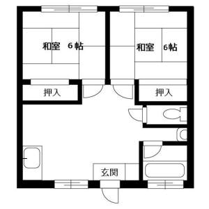 2LDK Apartment in Iriya - Zama-shi Floorplan