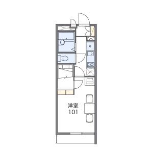 1K Apartment in Minamiyukigaya - Ota-ku Floorplan