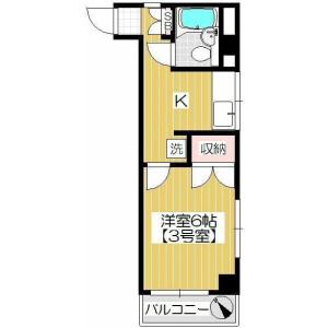 1K Mansion in Tsuji - Saitama-shi Minami-ku Floorplan