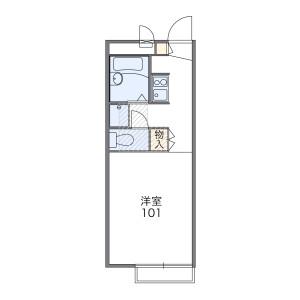 武藏野市緑町-1K公寓 楼层布局