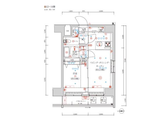 1LDK Apartment to Buy in Taito-ku Floorplan