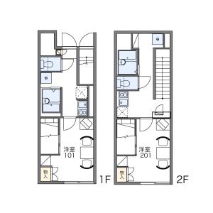 1K Apartment in Aoyagicho - Hakodate-shi Floorplan