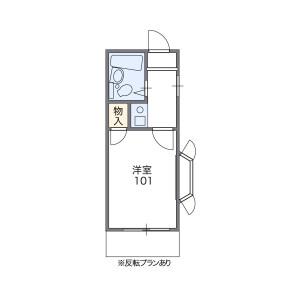 1K Apartment in Koyama - Shinagawa-ku Floorplan