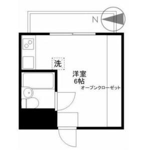 1R Mansion in Nishikamata - Ota-ku Floorplan