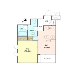 1DK {building type} in Nishihara - Shibuya-ku Floorplan