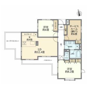 3LDK {building type} in Yoga - Setagaya-ku Floorplan