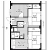 3DK Apartment to Rent in Hirakata-shi Floorplan