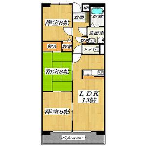 3LDK Mansion in Saiwaicho - Daito-shi Floorplan