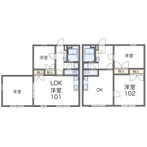 2LDK Apartment in Kamishinozaki - Edogawa-ku Floorplan