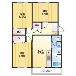 2DK Mansion in Kishimachi - Kawagoe-shi Floorplan