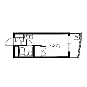 1R Mansion in Yakumo - Meguro-ku Floorplan
