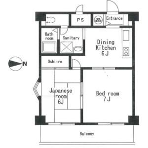 2DK Mansion in Futago - Kawasaki-shi Takatsu-ku Floorplan