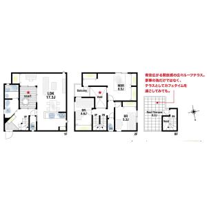 3LDK {building type} in Imamiya - Mino-shi Floorplan