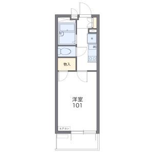 1K 아파트 in Fujimidai - Kunitachi-shi Floorplan