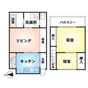 2LDK {building type} in Tokiwacho - Kyoto-shi Higashiyama-ku Floorplan