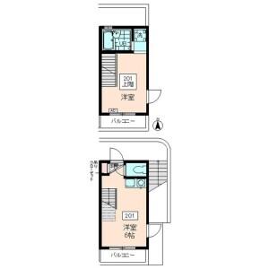 1DK Mansion in Fuda - Chofu-shi Floorplan