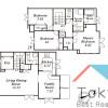 在杉並區內租賃3LDK 聯排式住宅 的房產 房間格局