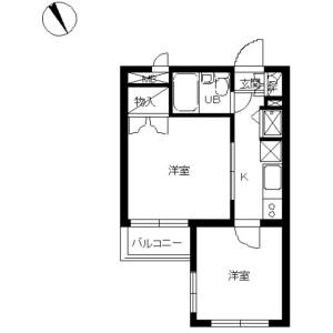 2K Mansion in Shimomeguro - Meguro-ku Floorplan