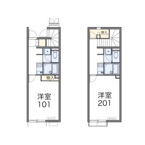 1K Apartment in Oguradai - Chiba-shi Wakaba-ku Floorplan