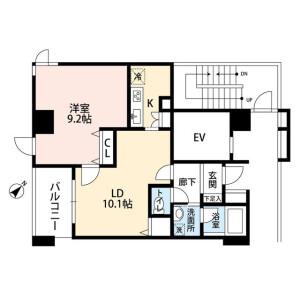 1LDK Mansion in Chuo - Nakano-ku Floorplan