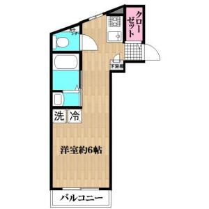 葛饰区新小岩-1R公寓大厦 楼层布局