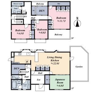 4SLDK {building type} in Kyodo - Setagaya-ku Floorplan