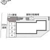 在松戸市内租赁1K 公寓 的 Layout Drawing