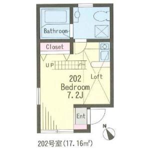 1R Apartment in Shimotakaido - Suginami-ku Floorplan
