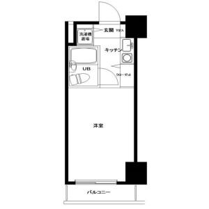 1R Mansion in Hiranuma - Yokohama-shi Nishi-ku Floorplan
