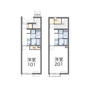 1K Apartment in Katsuharaku miyata - Himeji-shi Floorplan